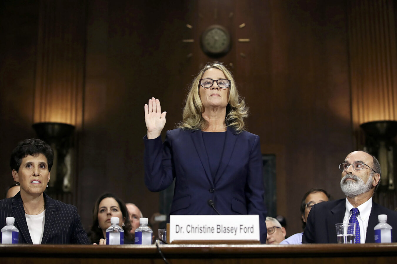 Dr Ford taking oath
